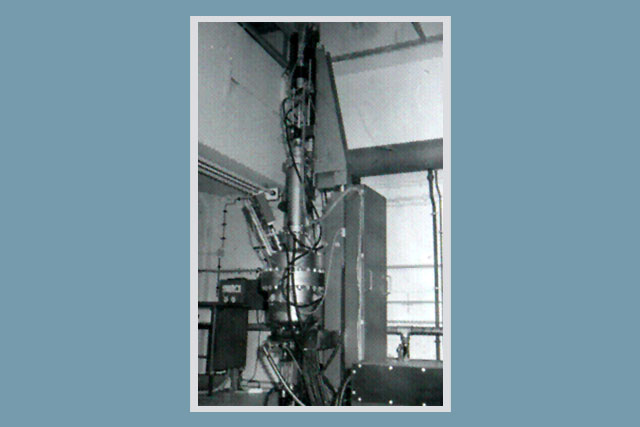"LEC single crystal growth machine for GaAs in 1985 (2"")"