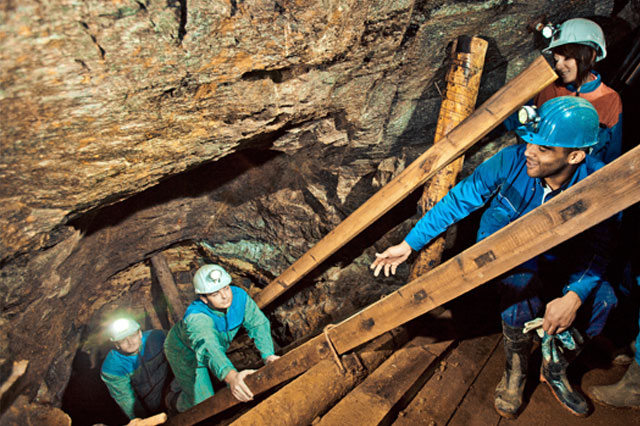 Visitor Mine. 150 m below the ground. Press photo: City of Freiberg/Ralf Menzel